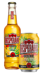 Desperados can and bottle